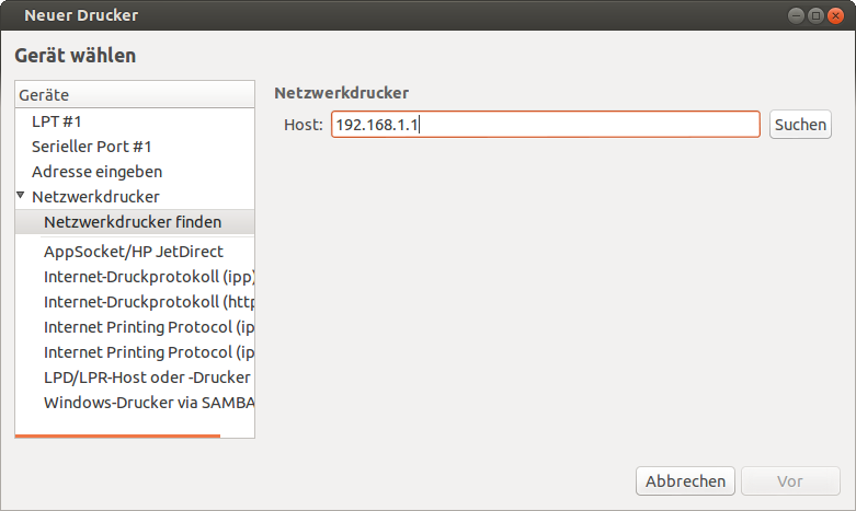 Ubuntu 12.10 Network printer problem