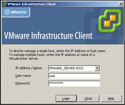 VMWare Infrastructure Client with VMWare Server