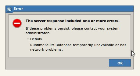 VMWare Server 2 – RuntimeFault: Database temporarily unavailable or has network problems